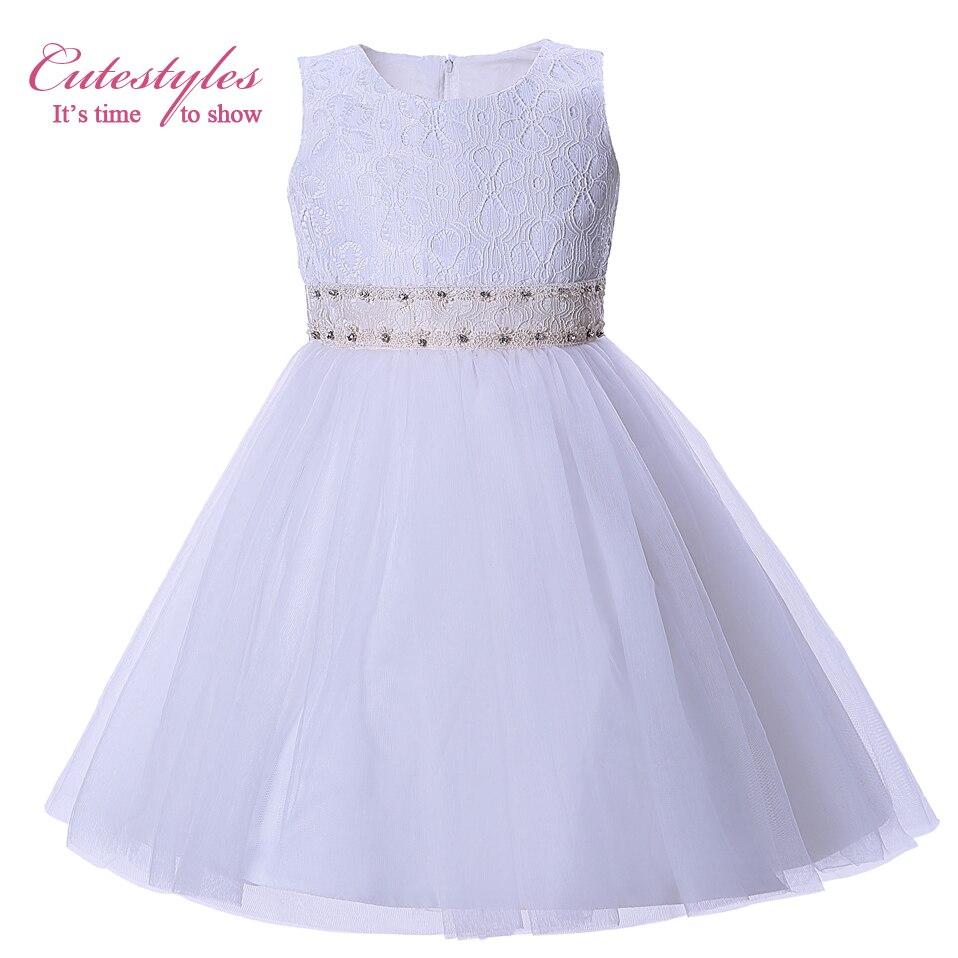 Buy cutestyles little girl white wedding for Lil girl wedding dresses