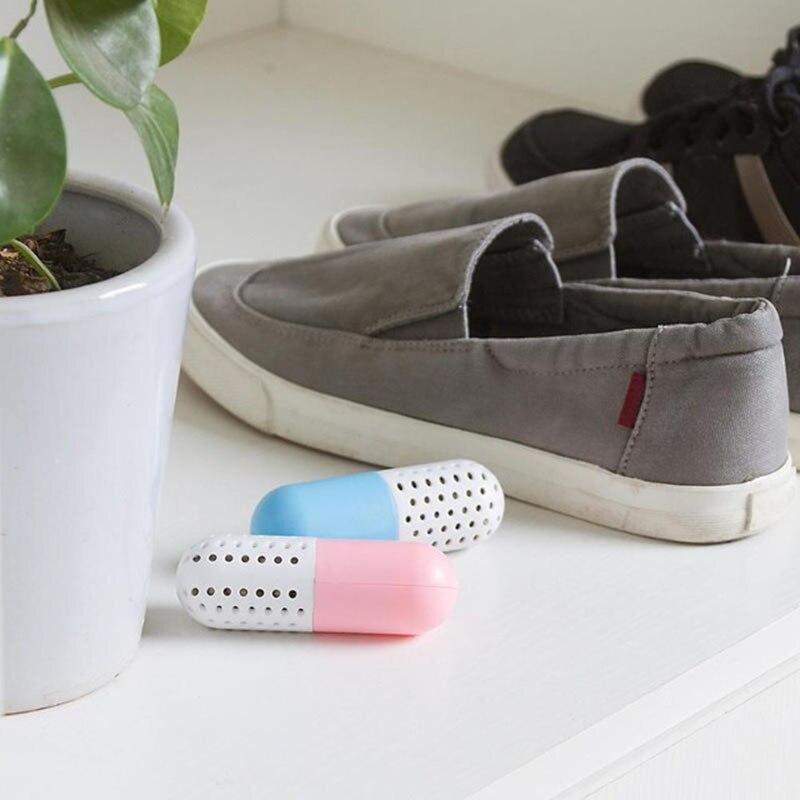 2pcs/set Shoe Deodorant Cute Pill Shape Shoe Dryer Shoe Deodorizer Antimicrobial Carbon Closet Deodorant Drawer Absorber