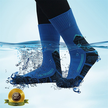 Unisex Waterproof Socks [SGS Certified] Men Women Outdoor Cycling Climbing Hiking Skiing Trekking Warm breathable Ankle Socks