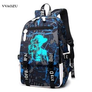 Image 2 - Cartoon Japan Anime One Piece Luminous Backpack Fashion Monkey D Luffy Cosplay Student Large Capacity Schoolbag Bagpack Mochila