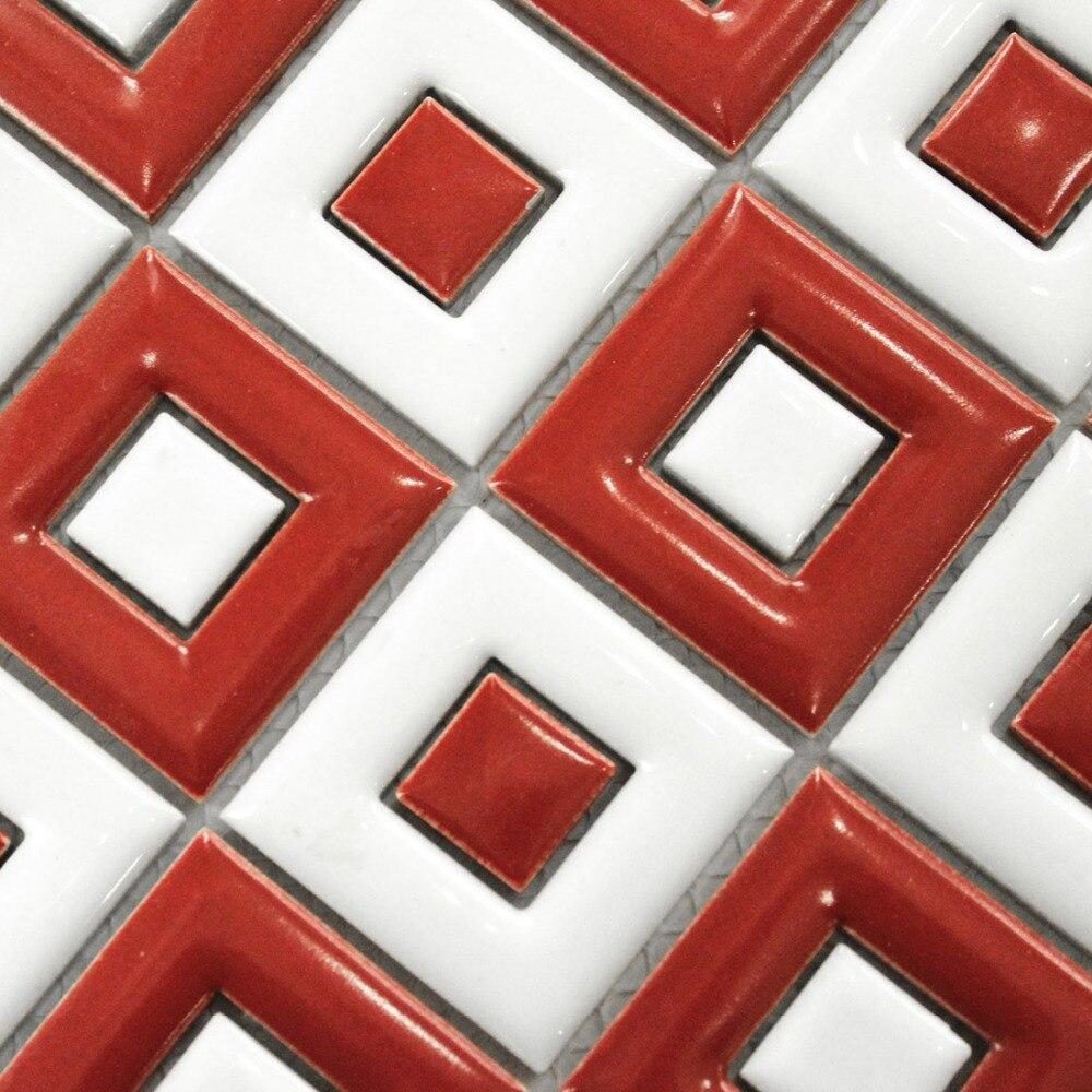 White Red Ceramic Font B