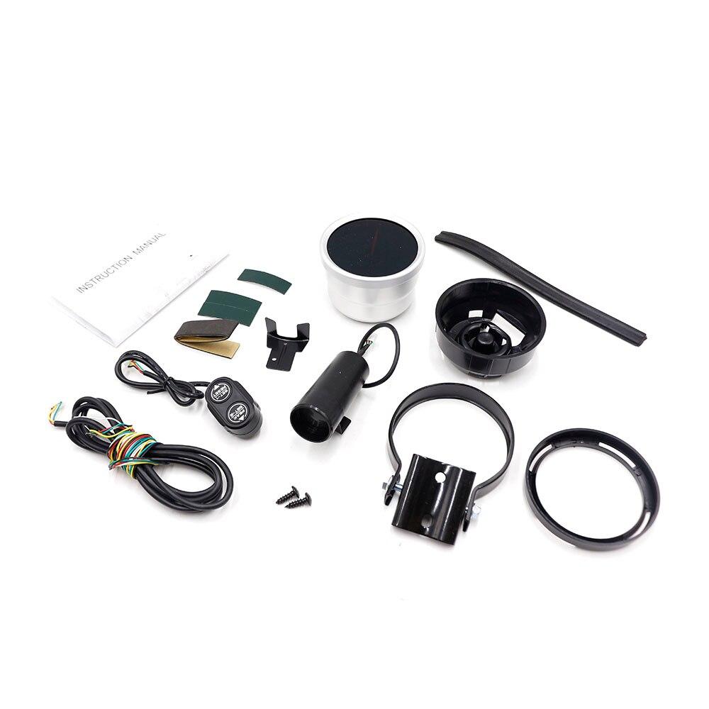 Image 5 - CNSPEED 80mm Racing Car Rpm Tachometer Gauge With Warning light Auto car Gauge/Car Meter/Black Face Tachometer Gauge xs101146-in Tachometers from Automobiles & Motorcycles