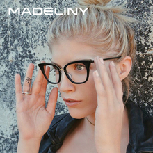 MADELINY New Fashion Cat Eye Sunglasses Women Brand Designer Clear Lens Sun Glasses Women UV400 MA480