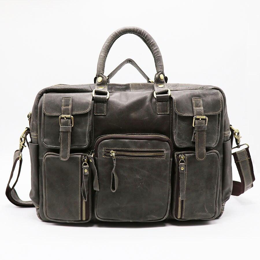 Бренд классический 16' пояса из натуральной кожи Бизнес Портфели портфель для мужчин сумки через плечо сумка дорожные