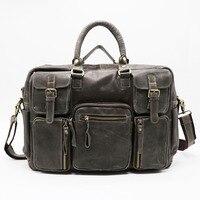 Brand Classic 16 Genuine Leather Business Briefcase Portfolio Men S Handbag Cross Body Shoulder Messenger Bag