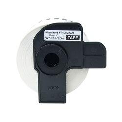 2 rolki taśma z etykietami DK-22223 etykiety 50mm x 30.48m ciągła kompatybilny do Brother QL-500/500A/550/ 560/570/570VM/580N/650TD/710W
