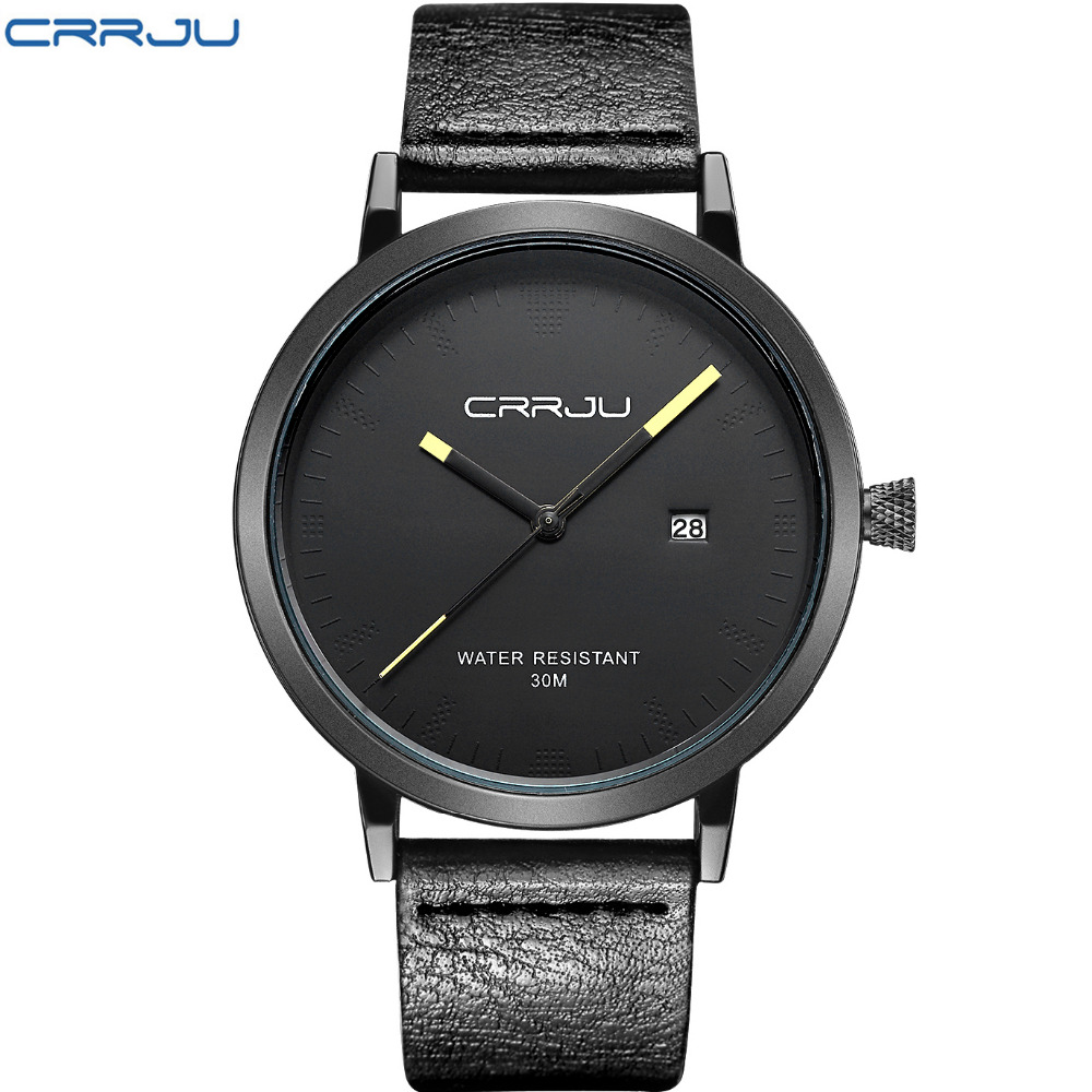 2016 New Luxury Brand CRRJU Men Watches Fashion Casual Men Watches Analog Army Military Sports Watch Quartz Male Wrist watches 2014 new arrival fashion men sports dual movement analog watches military quartz luxury fashion brand led watch 30m waterproofed oversize wristwatch red