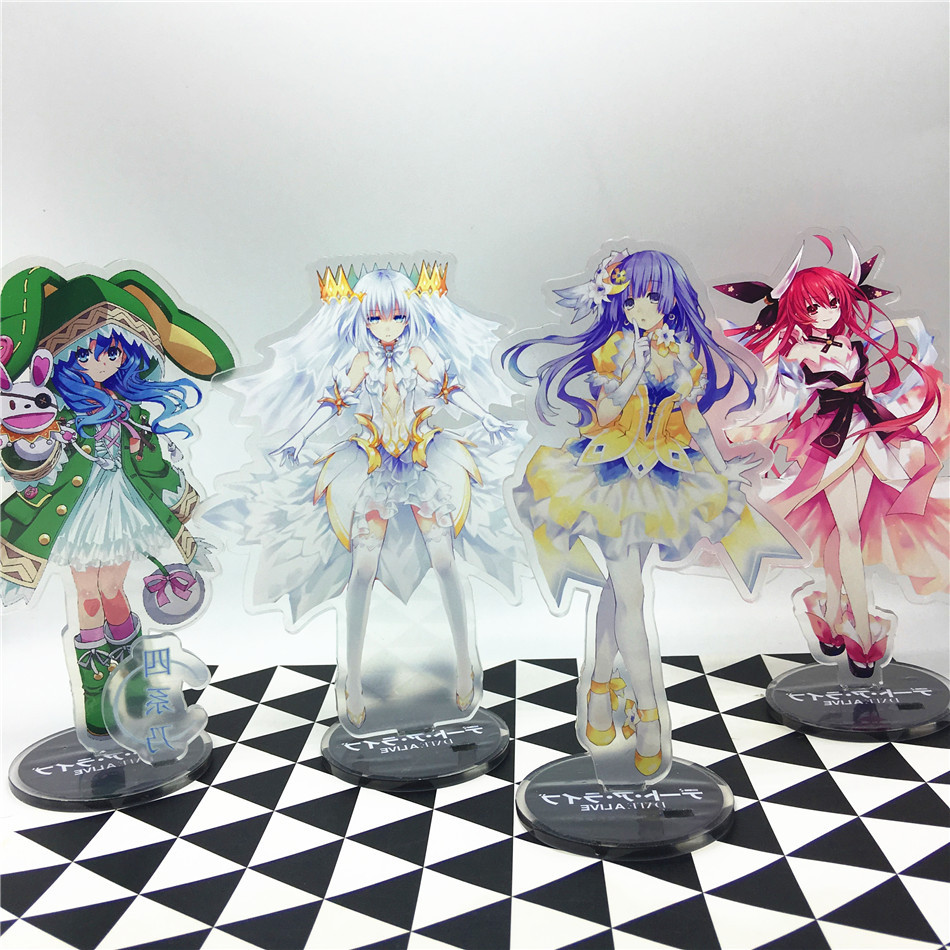 Anime Date a live Acrylic Stand Model Toys date a live Action Figure Pendant toy 15cm do ...