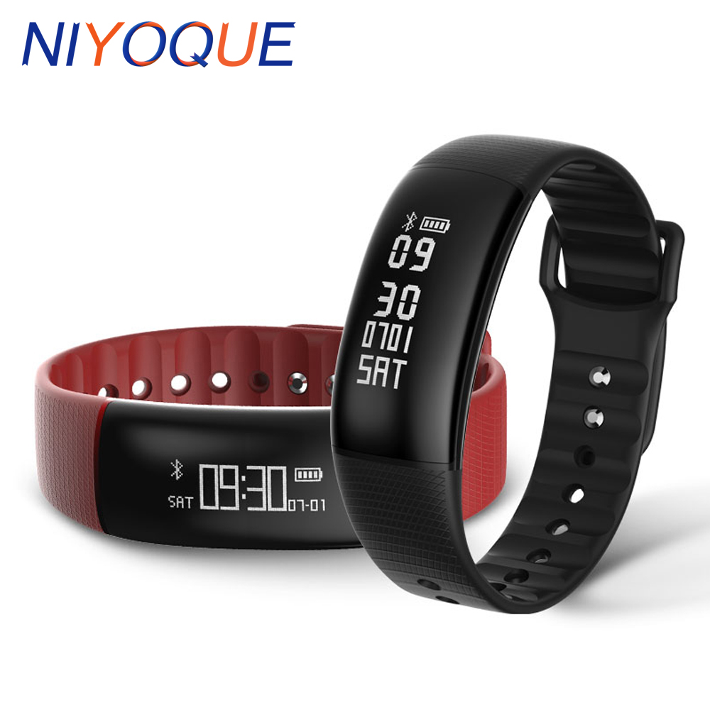 2017 NEW A69 Smart band Heart rate monitor blood pressure Smart Wristband Fitness bracelet Call SMS