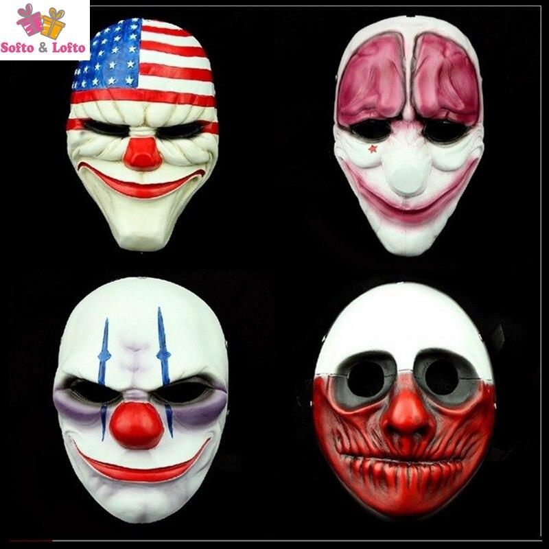 Livraison Gratuite Joke Dal Chaîne Loup Hox Payer Masques las Haute qualité Détails Frappants Jeu Fans tonnes Collection jouet Halloween Jour Cadeaux