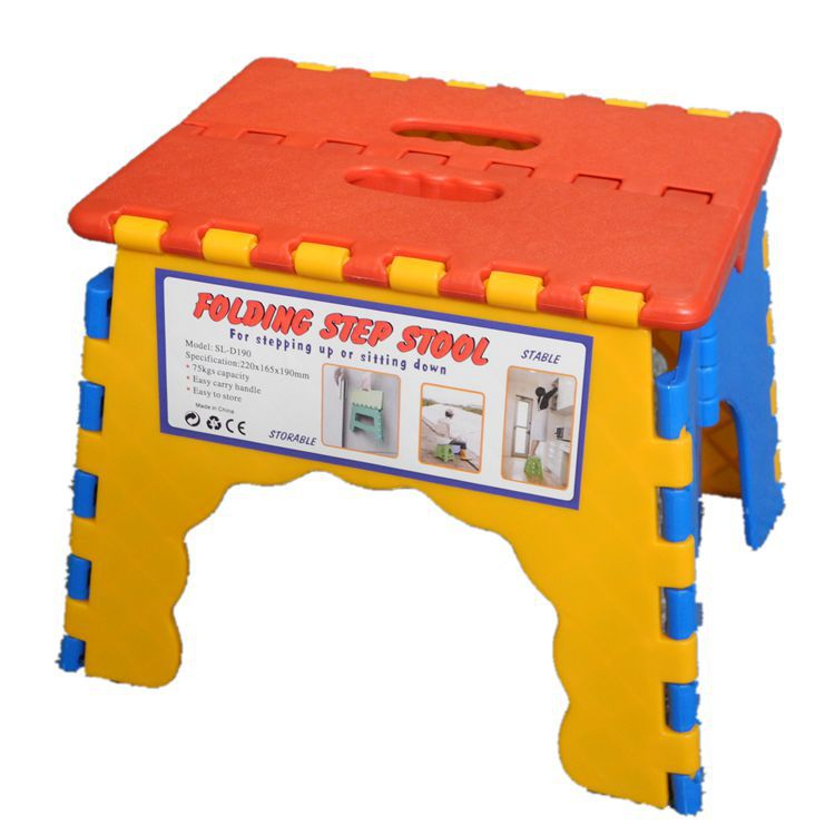 Color Children's Outdoor Hand Improves Quality Thickened 19cm Plastic Folding Bench Chair For Kids