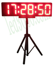 8inch red hours,minutes and seconds  LED clock with rack (HST6-8R)