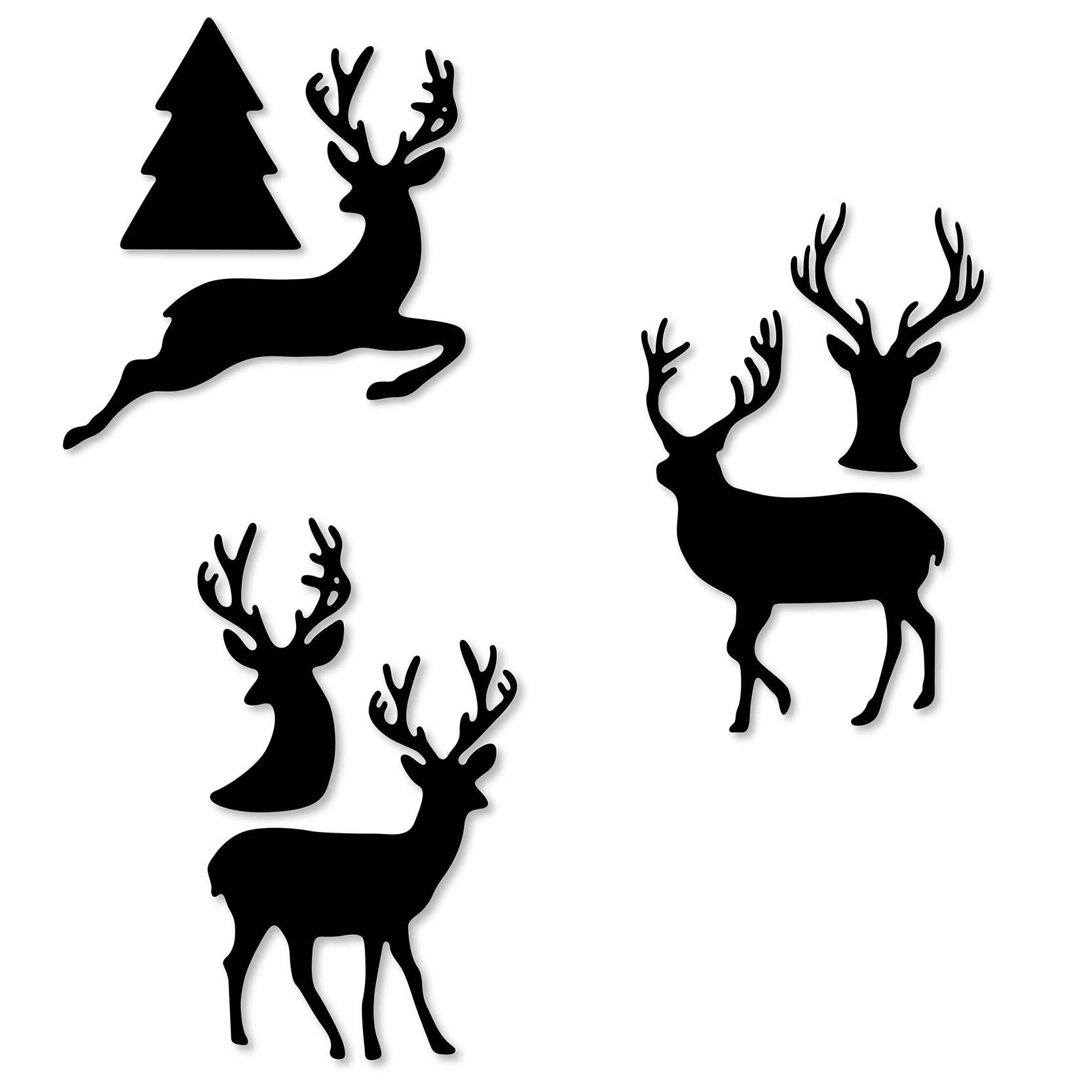 Christmas Deer Cutting Dies Stencil DIY Scrapbooking Embossing Paper Card Decor