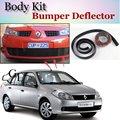 Deflector de Labios Lip Bumper Para Renault Logan/Tondar/Símbolo Spoiler delantero Falda Para TopGear Amigos Tuning/Kit de Carrocería/tira