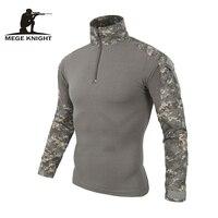 Камуфляжная военная форма США армейская рубашка карго комплексный Камуфляж для страйкбола для пейнтбола милитари тактическая одежда с нак...