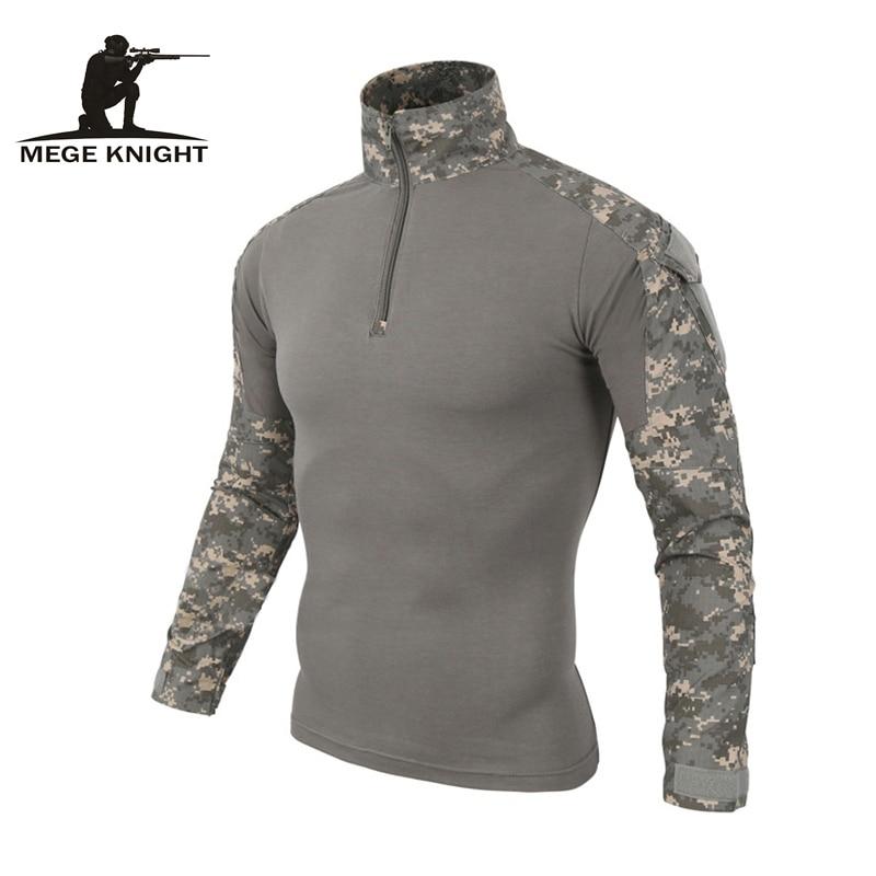 Álcázás katonai egyenruha minket hadsereg harci póló rakomány multicam Airsoft paintball militar taktikai ruházat térdpárnákkal