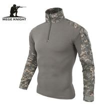 Camisa de camuflagem militar uniforme de combate do exército dos eua carga multicam Airsoft paintball roupas tático militar com joelheiras