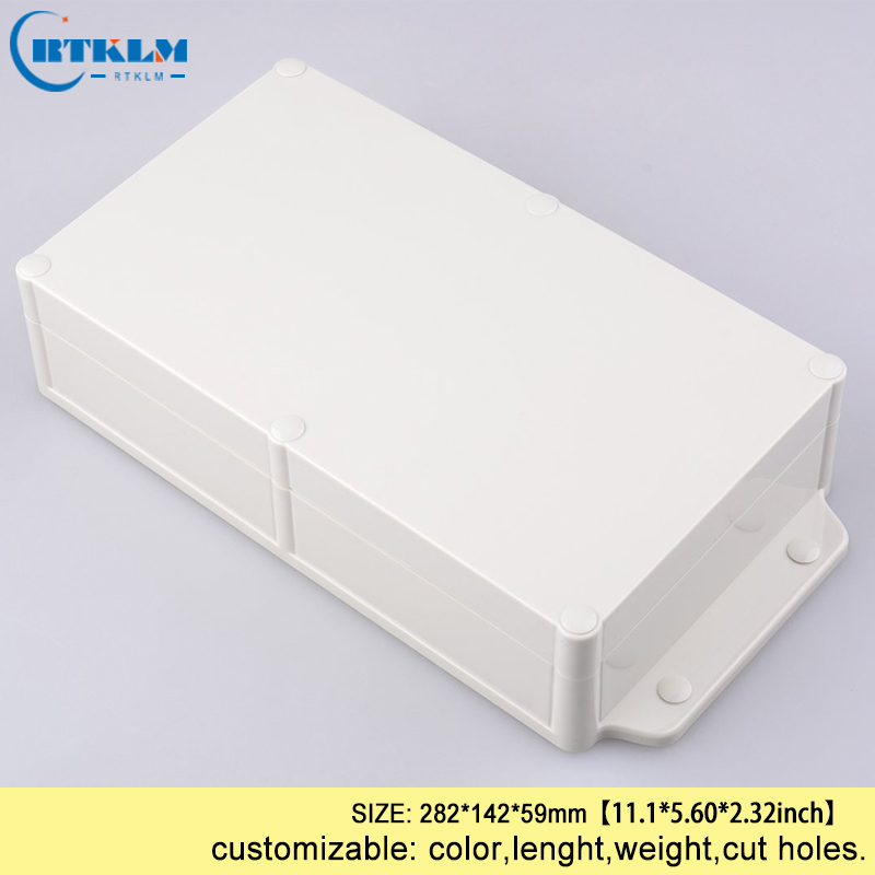 Wall mounting project outdoor plastic waterproof enclosure junction box plastic diy cases electronic 282*142*59mm transparent