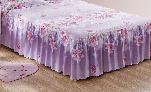 1 Piece Bed skirt bed sheets King Queen Twin size Flowers bed sheet bedding Lace mattress cover Bedspread