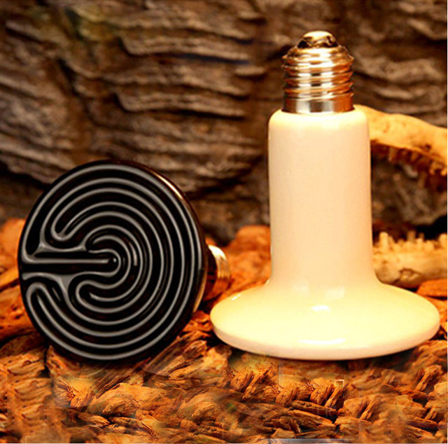 220V 200W Ceramic Infrared Emitter Heat Lamp Grow Plant Lamp Zoo Turtle Pet  Reptile Heater With