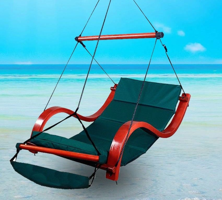 New Deluxe Patio Green Hanging Air Padded Swing Lounger Hammock Chair In Patio Swings From Furniture On Aliexpress Com Alibaba Group