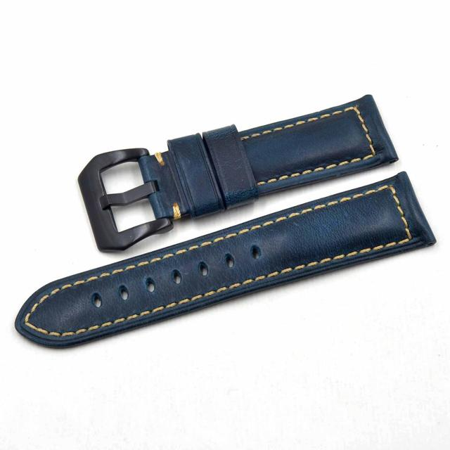 20 22 24 26mm Universal man Belt Italy Oil wax Calf Leather Straps Watchband Replace for Panerai Seiko Omega Wristband Bracelet | Watchbands