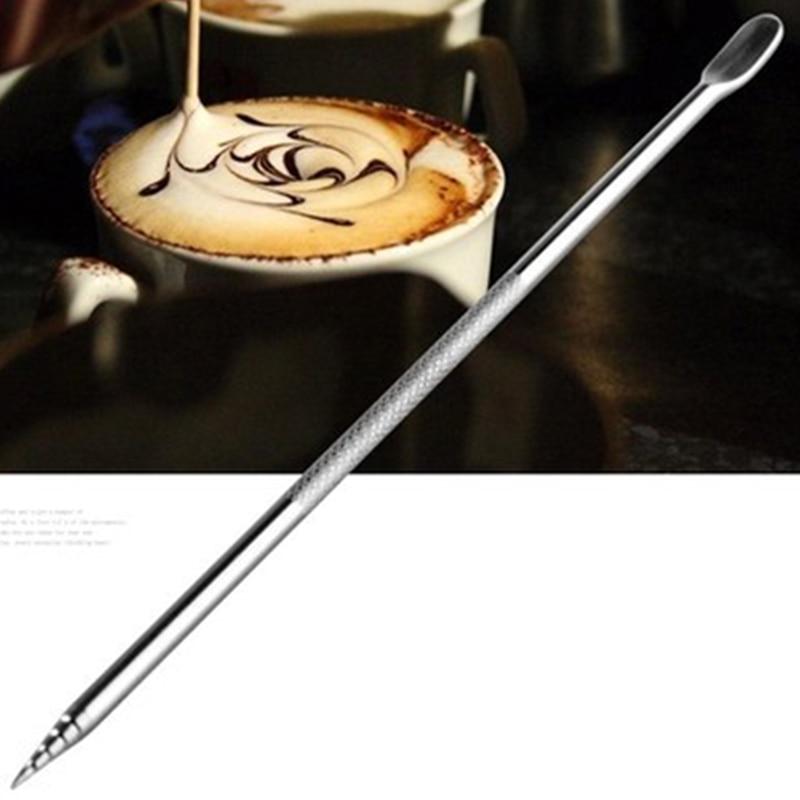 Barista Cappuccino Espresso Coffee Decorating Latte Art Pen Tamper Needle Fancy Coffee stick tools