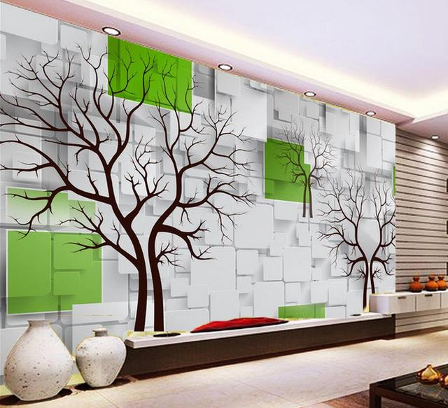 3d customized wallpaper Home Decoration Woods television ...