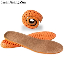 1Pair Pigskin Insole Men Women Shoe Protector Pad Increase Height Orthotic Insoles Arch Support Sports Leather PD-3