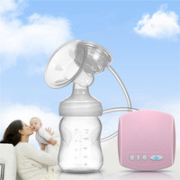 Automatic Electric Large Suction Single Breast Pump Infant Baby Milk Extractor Gift With Pacifier Feeding Bottle