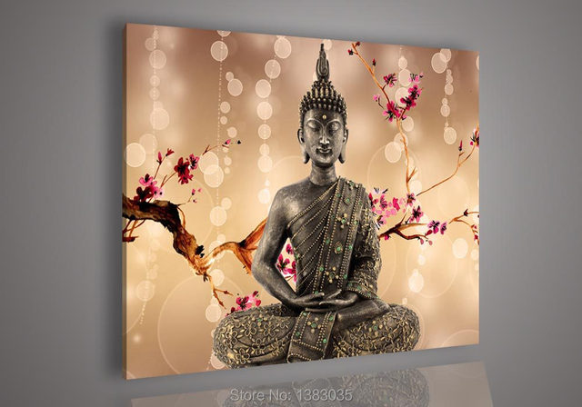 hand painted modern portrait picture abstract wall home decor oil painting buddha canvas art no frame