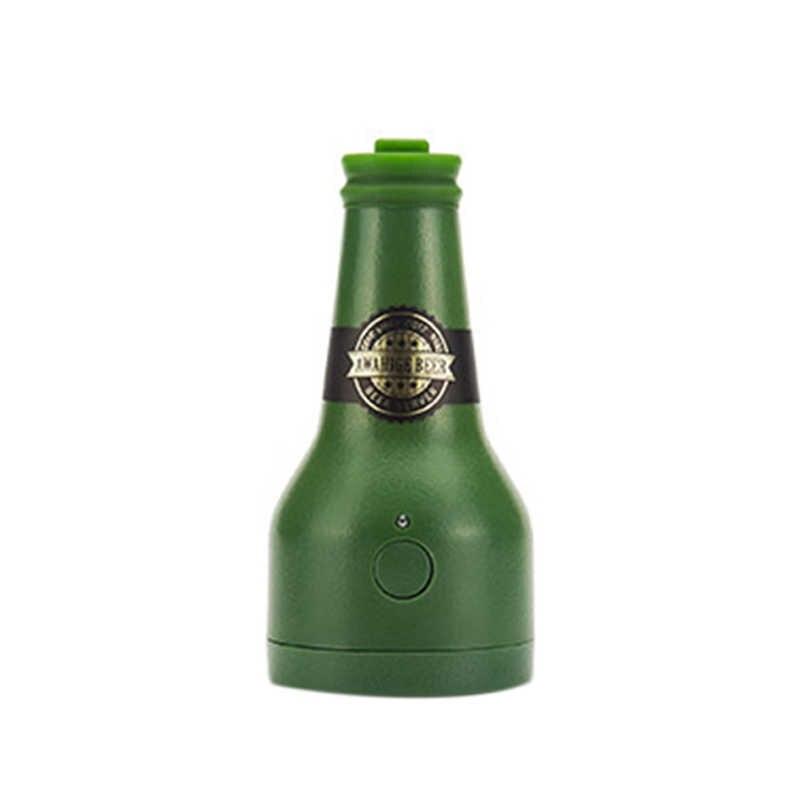 قابلة لإعادة الاستخدام بالموجات فوق الصوتية الاهتزاز البيرة رغوي الكهربائية المعلبة البيرة صانع فقاعات زجاجة Frother رغوي البيرة تألق اكسسوارات بار