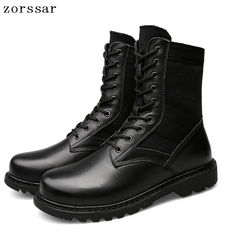 {Zorssar} Outdoor Army Boots Men's Military Desert Tactical Boot Shoes winter Breathable Combat Ankle Boots Men Work Boots