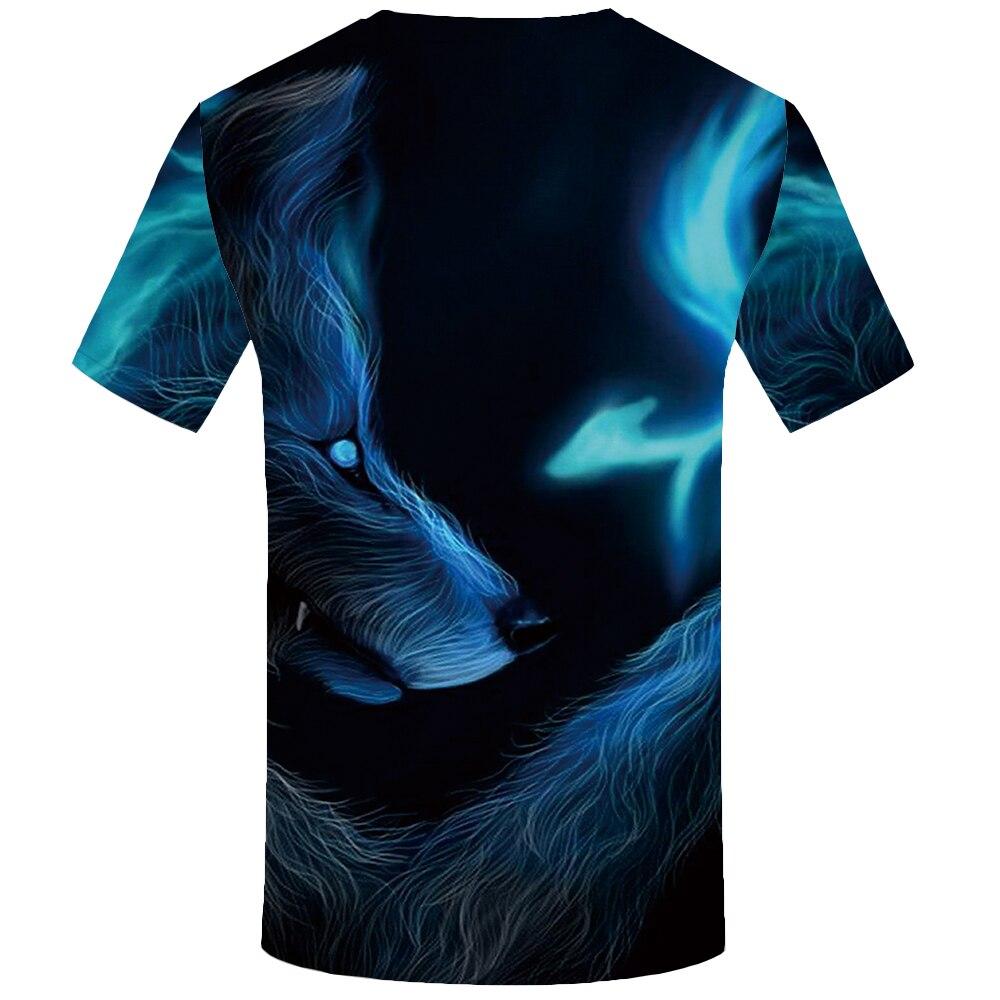 KYKU Wolf T Shirt Men Fangs Black Tshirt Eye 3d Print T shirt Funny T Shirts Sexy Cool Mens Clothing Slim 2018 New Summer Tops in T Shirts from Men 39 s Clothing