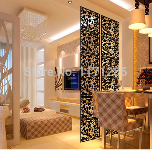 Modern fashion contract birds hanging screen partition wall stickers room dividers hollowout - Decorative partitions room divider ...