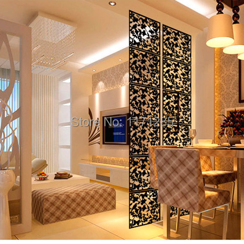 Modern Fashion Contract Birds Hanging Screen Parion Wall Stickers Room Dividers Hollowout Home Decor