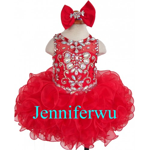 glittering stone beaded Flower girl dresses Baby Girl clothes infant pageant dresses  1T-6T G284-3 купить