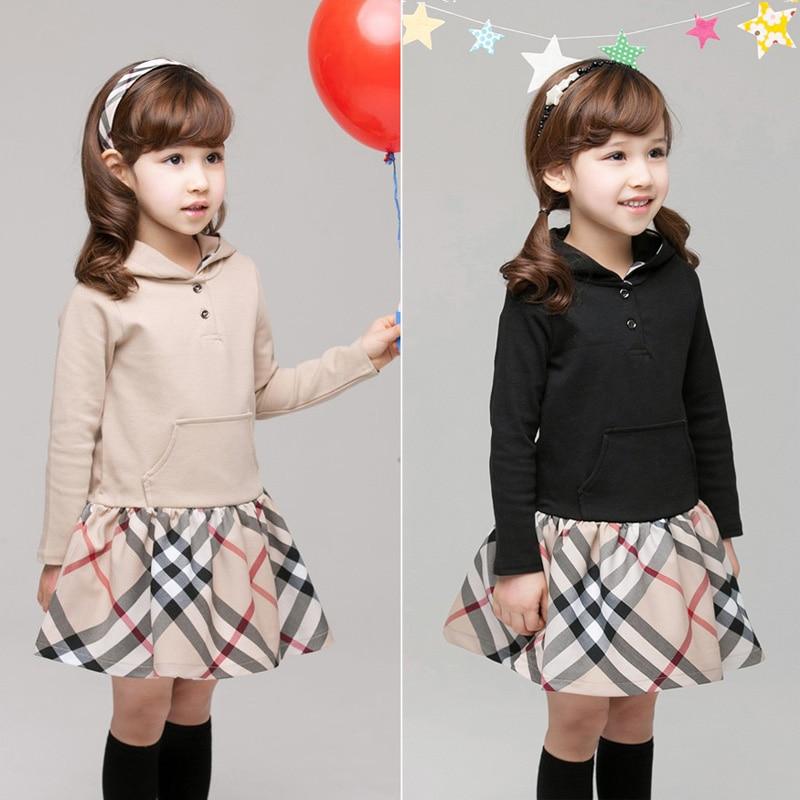 children girl dresses hoodie kids cotton long sleeve dress children clothing spring baby girl dress casual hooded dresses girl