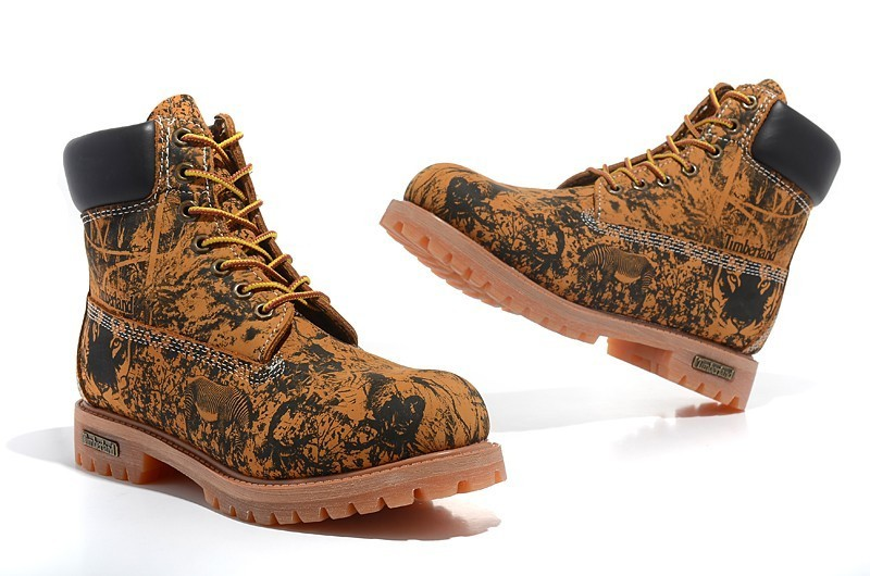 TIMBERLAND Animal Prints Camouflage Leopard Men Premium Ankle Martin Boots,Man Genuine Leather Timber Outdoor Casual Shoes 10082 2