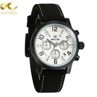 4 Dial Black Color Watches Men Top Brand Lancardo Fashion Watch Quartz Watch Male Relogio Masculino