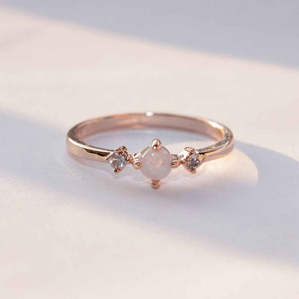 Bridal Rings Wedding Women Three Stone Cut Engagement Ring for lady  Female Finger Jewelry Dropshipping