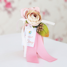 30pcs/lot Gift box Tiffany flower Wedding Party Candy boxes baby shower favors gifts for guests Supplies decoration