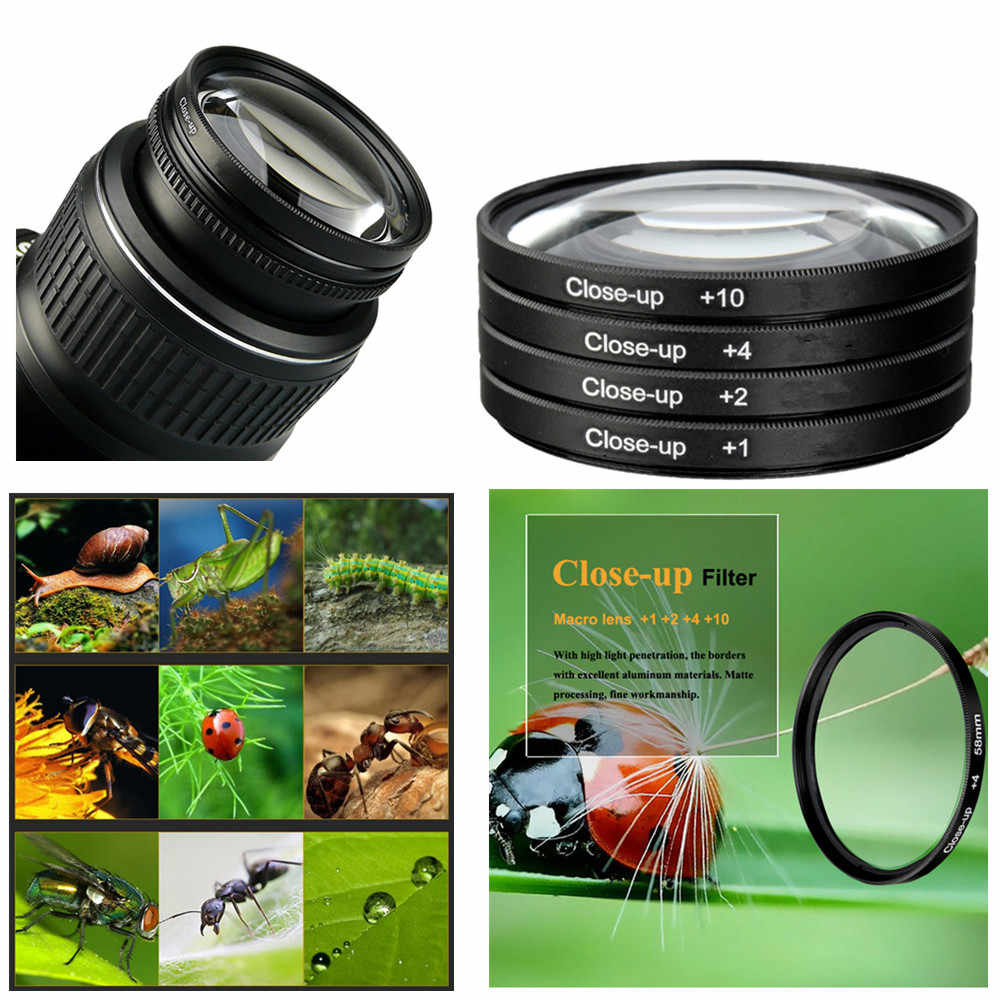 58 Mm Close Up Filter Kit untuk Fujifilm X-T30 X-T3 X-E3 X-E2s X-E2 X-E1 X-T20 X-T10 X-T1 X-T2 XT30 XT20 XT3 XT2 XE3 18-55 Mm Lensa