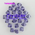Free shipping wholesale  3mm  4mm 6mm 8mm 5301 Grade AAA tanzanite color  glass crystal Bicone Beads