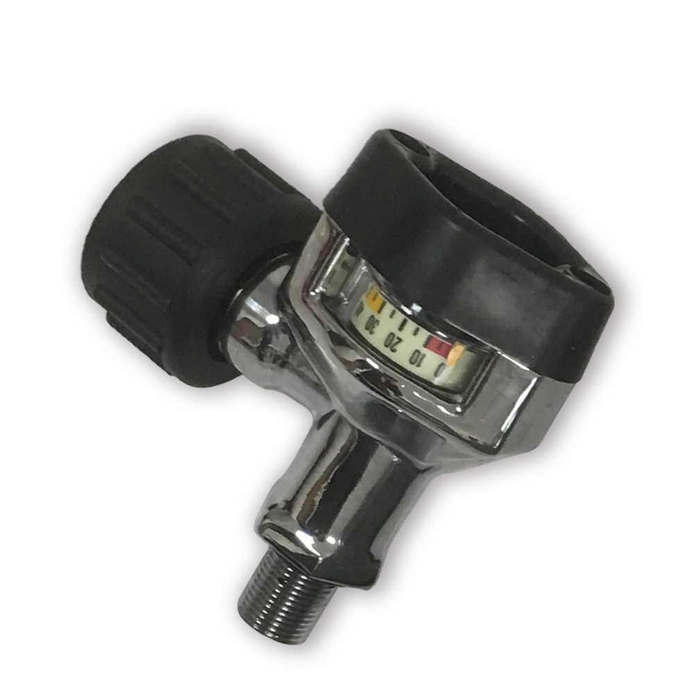 AC921 Venta caliente 30Mpa 4500psi SCBA tanque de fibra de carbono Válvula de cilindro de aire comprimido con gran manómetro Envío Directo