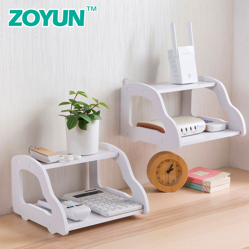 Router rack non-perforated wall rack storage box wall rack TV set-top box projector small bedroom debris double storage rackRouter rack non-perforated wall rack storage box wall rack TV set-top box projector small bedroom debris double storage rack