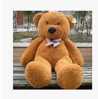 Stuffed animal 31 inch dark brown tie Teddy bear plush toy soft doll gift w1663