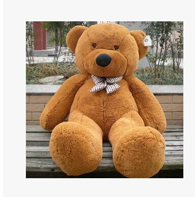 цена на Stuffed animal 31 inch dark brown tie Teddy bear plush toy soft doll gift w1663