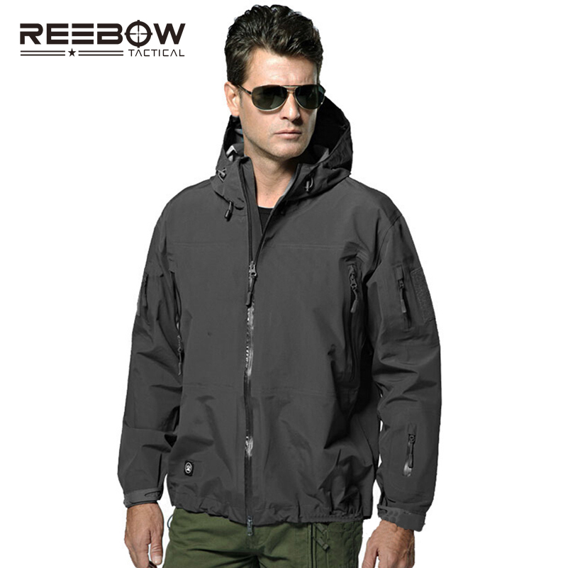 REEBOW TACTICAL Hardshell Men Outdoor Hiking Jacket Men Autumn Military SWAT Waterproof Windproof Coat Airsoft Paintball 2017 arrival original eken action camera h9 h9r 4k sport camera with remote hd wifi 1080p 30fps go waterproof pro actoin cam