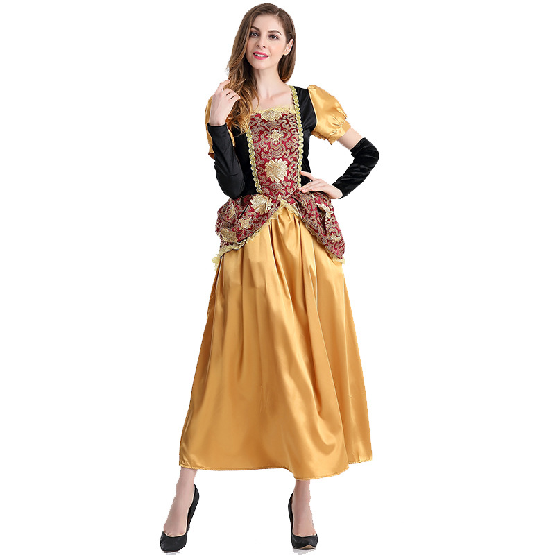 New Vintage Europe Palace Noblewoman Cosplay Halloween Costume Beautiful Queen Cosplay Costume Exotic Clothes 1178H1774112